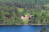 Aldourie Castle was across Loch Ness from our croft