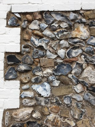 flint wall at the Cadogan Inn - a different type of building