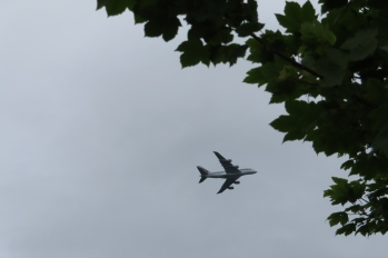 Runnymede is under the flightpath - there is nearby memorial to WW2 airmen
